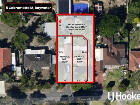 Lot 1, 2 & 3/5 Cabramatta Street Bayswater, WA 6053
